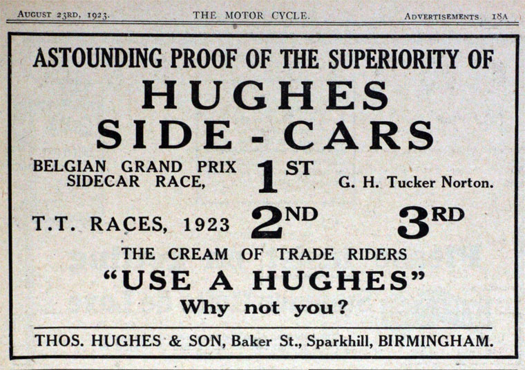 T. Hughes, of 32 Baker St, Small Heath, Birmingham