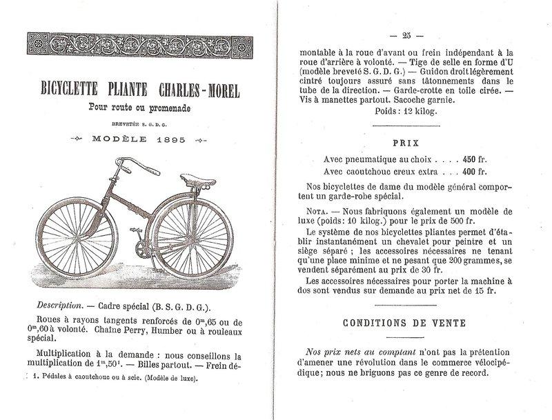 charles morel bicyclette pliant