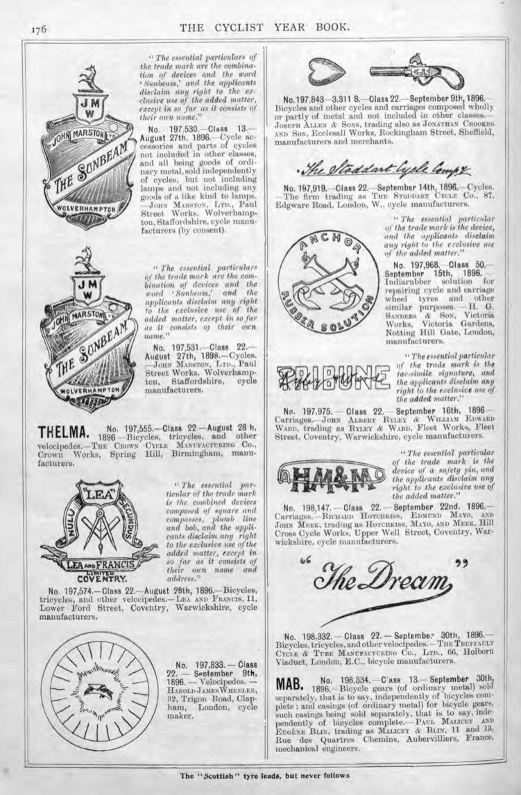 1898 year book SUNBEAM BADGE PATENT 2
