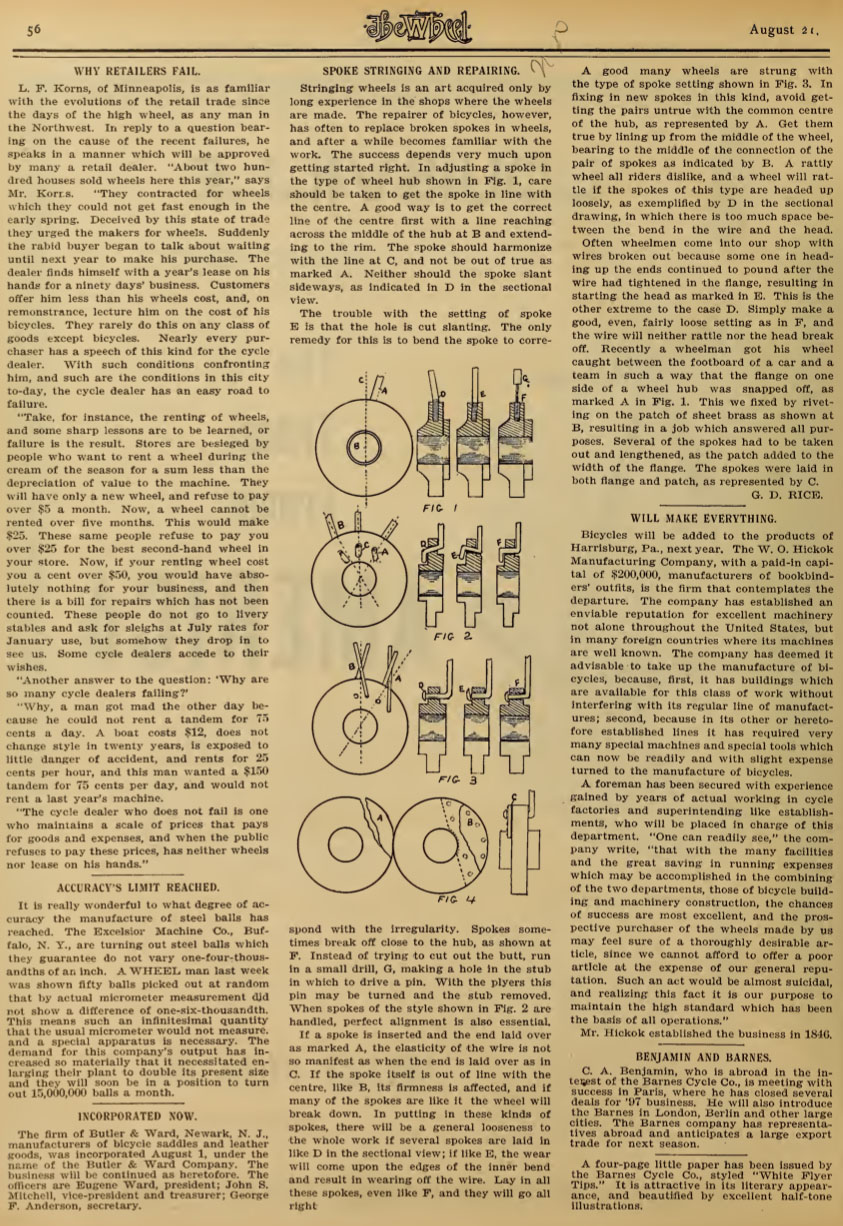 56 1896 BARNES CYCLE CO
