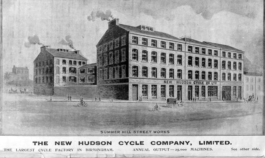 1897 new hudson cycle co birmingham factory 2