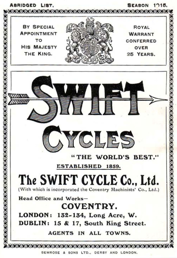 swift cycles 1915