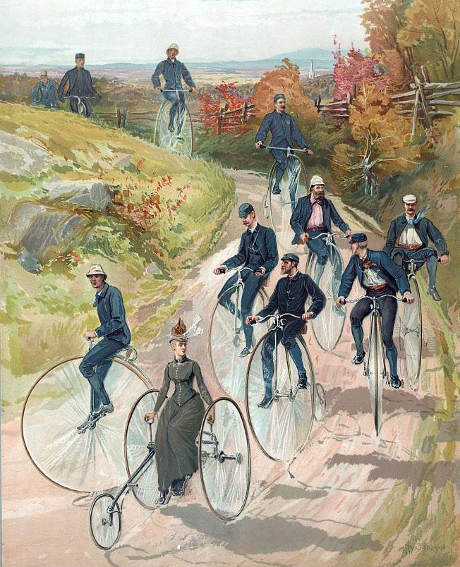 1880s cycling scene