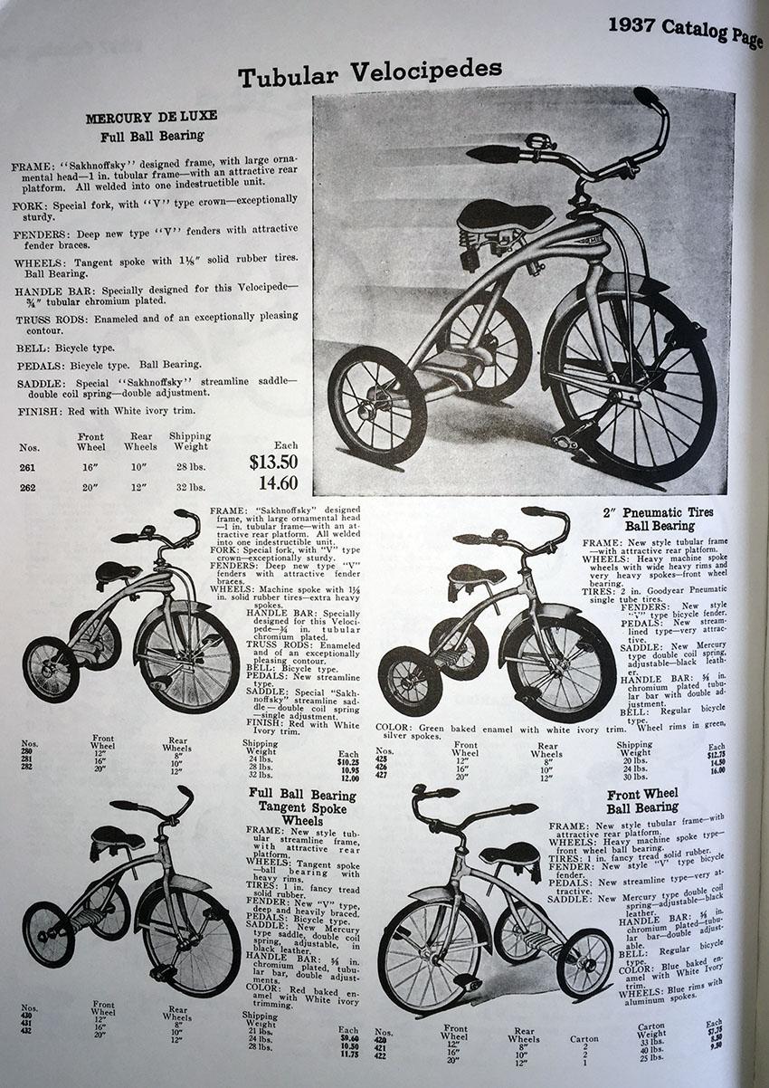 1937 mercury tricycle copy