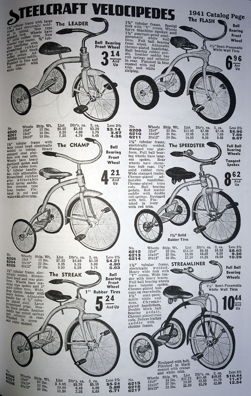 1941 mercury tricycle copy