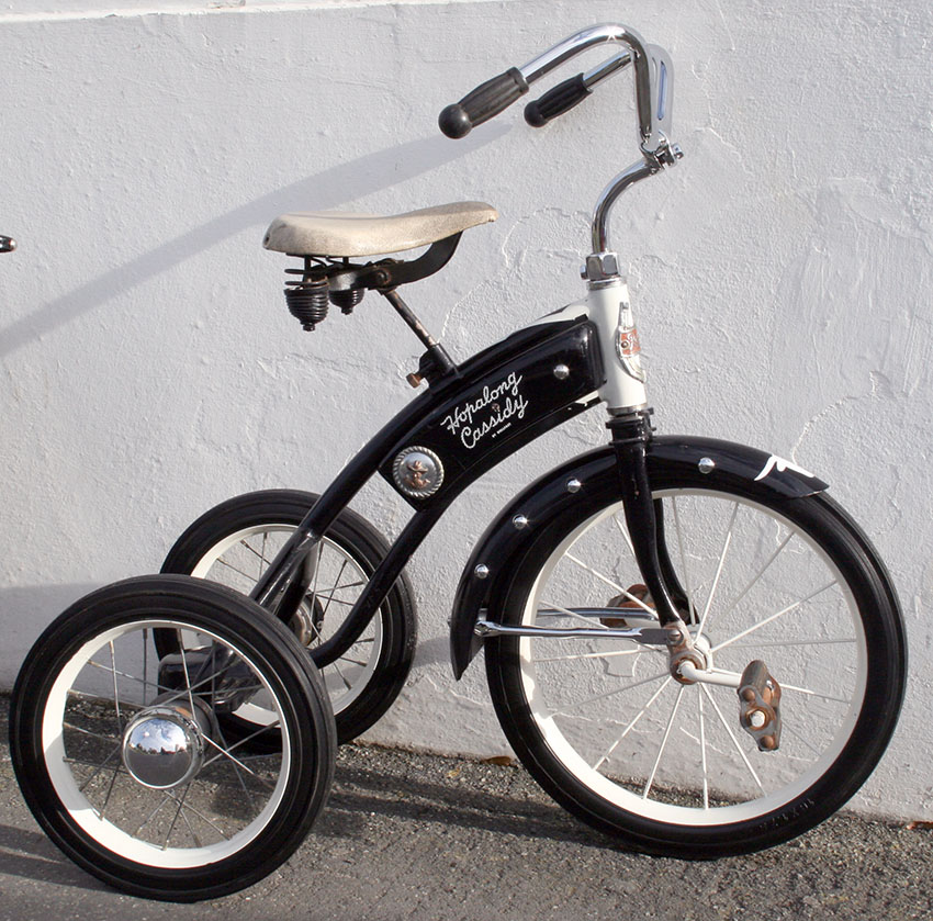 1952 Hopalong Cassidy Velocipede Tricycle 05