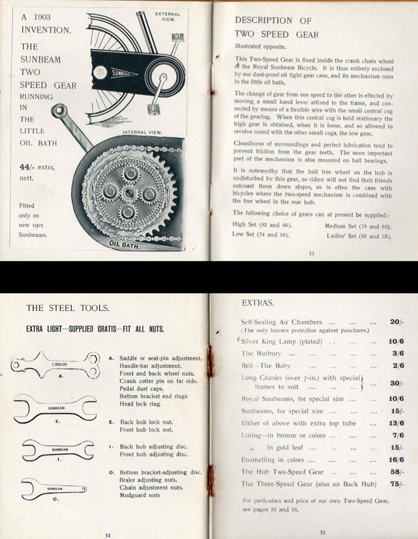 1903 sunbeam two speed gear