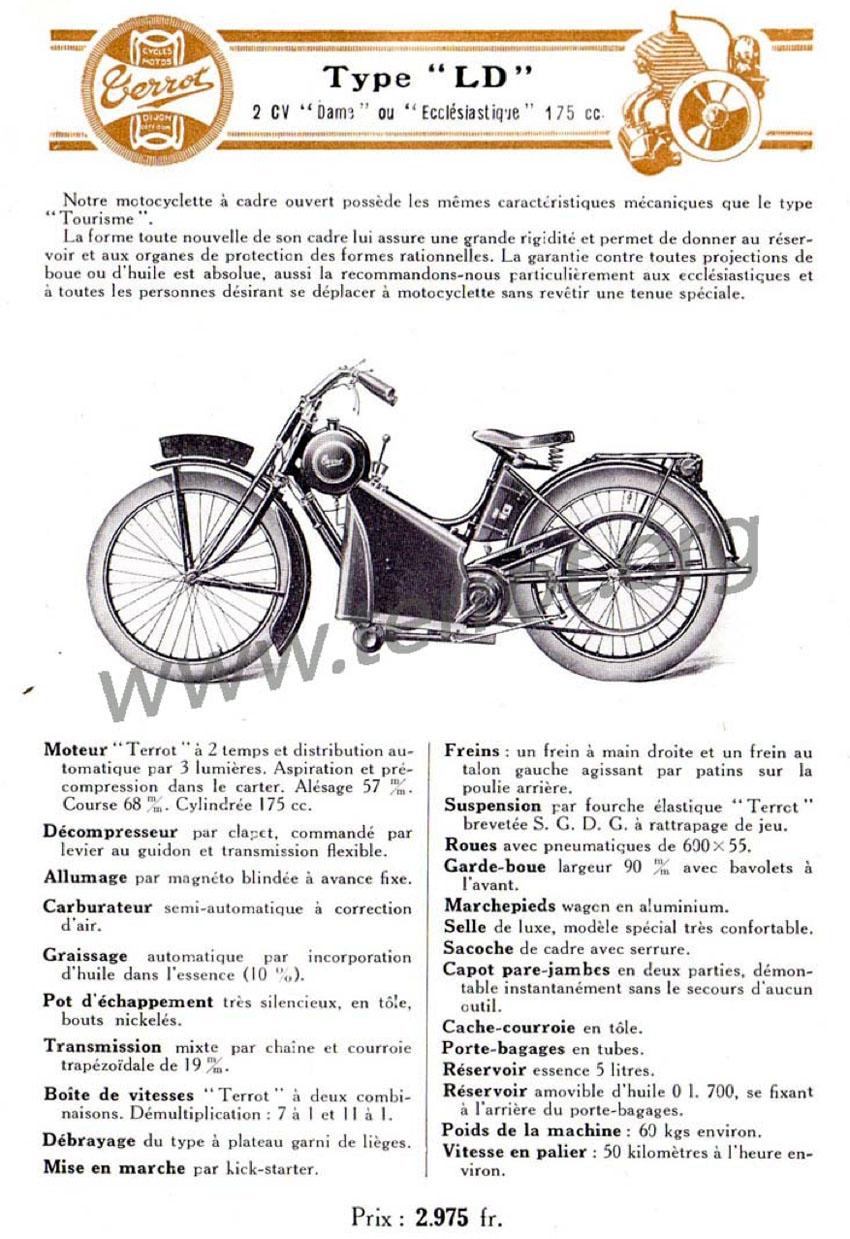 1926 Terrot Type LD Ecclesiastique