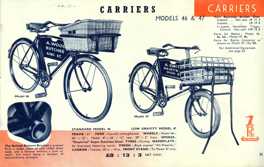 raleigh low gravity carrier