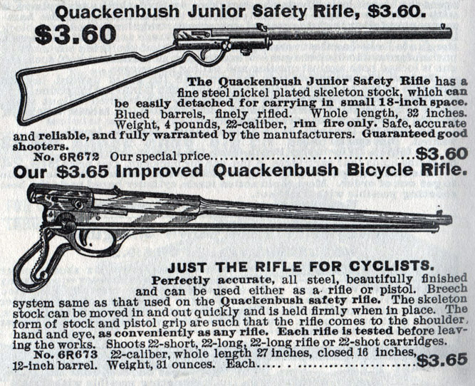 Improved Quackenbush Bicycle Rifle