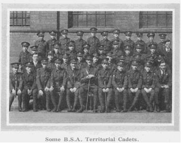 bsa territorials 1914