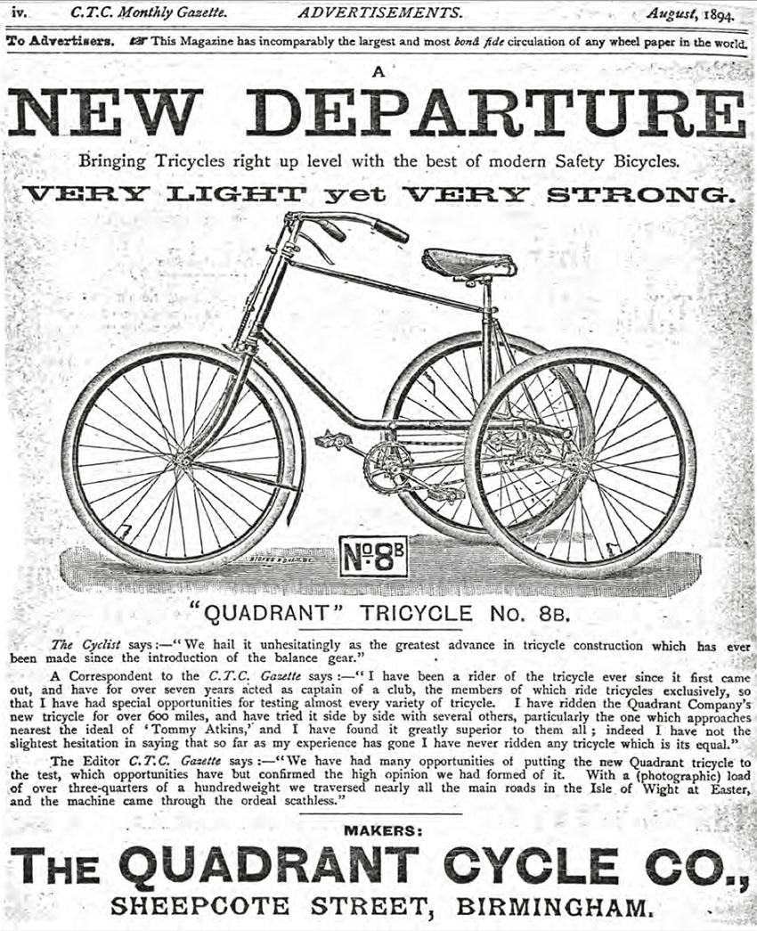 1894 Quadrant Convertible Tricycle