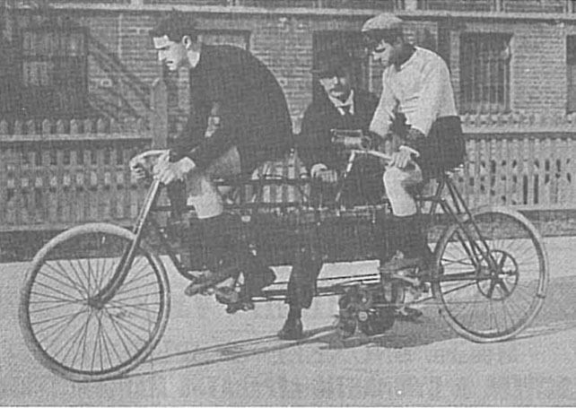 1897 gladiator electric tandem