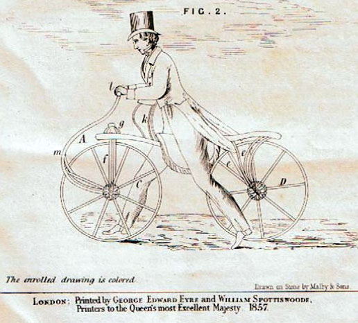 1857 print of johnsons hobby horse
