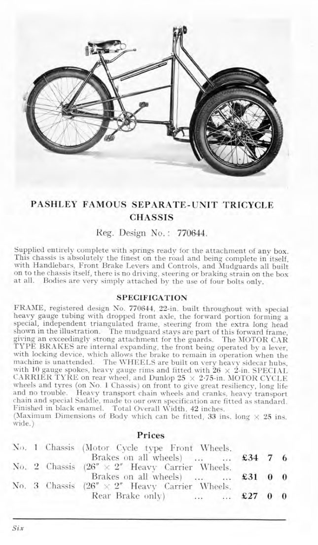 1930s Pashley Tradesmen's Delivery Tricycle 4