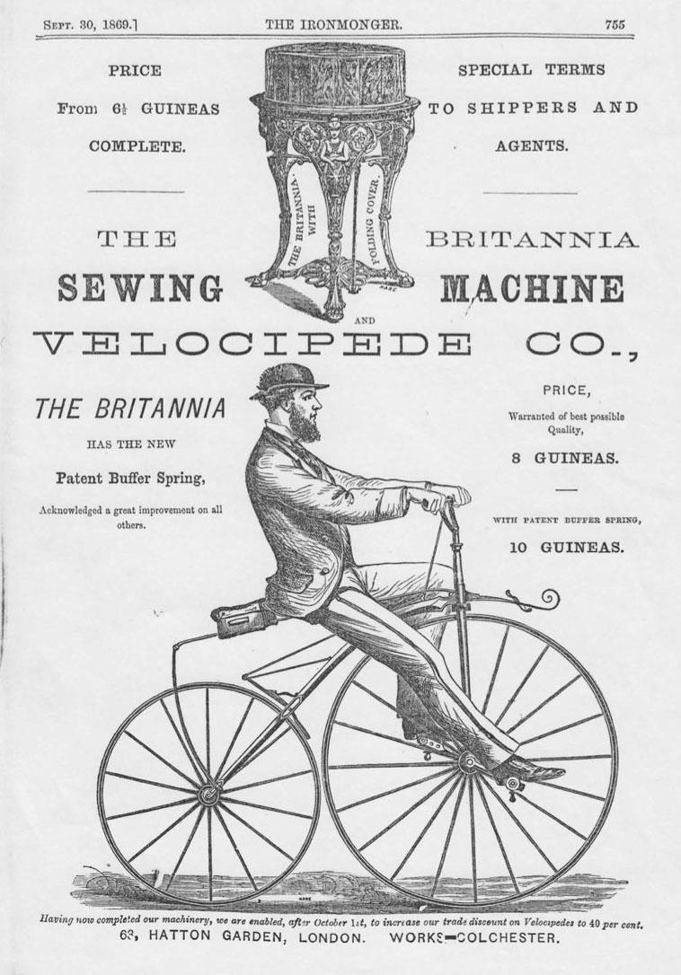 Brritannia velocipede 1869