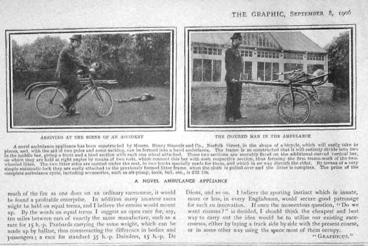 1906_THE_GRAPHIC bicycle ambulance