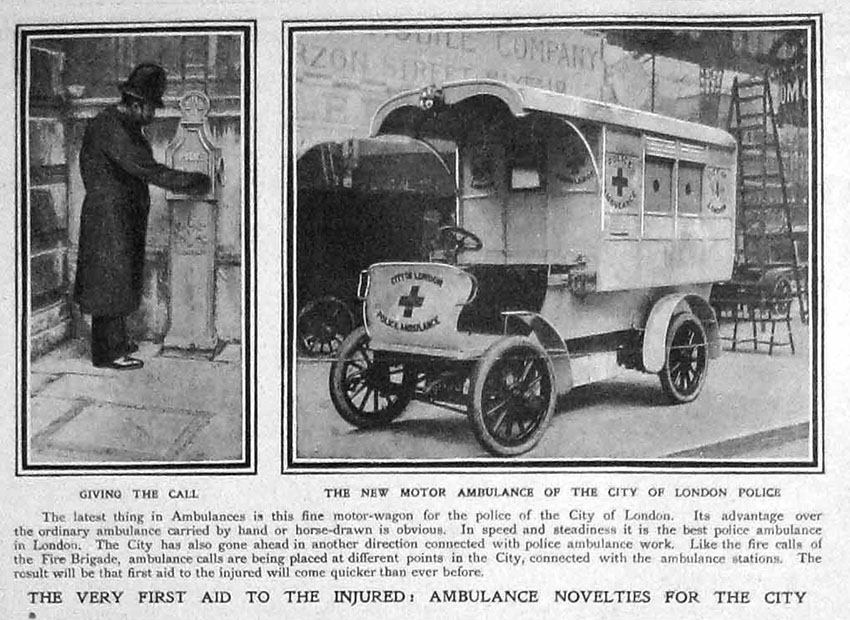 1907 ambulance city london police