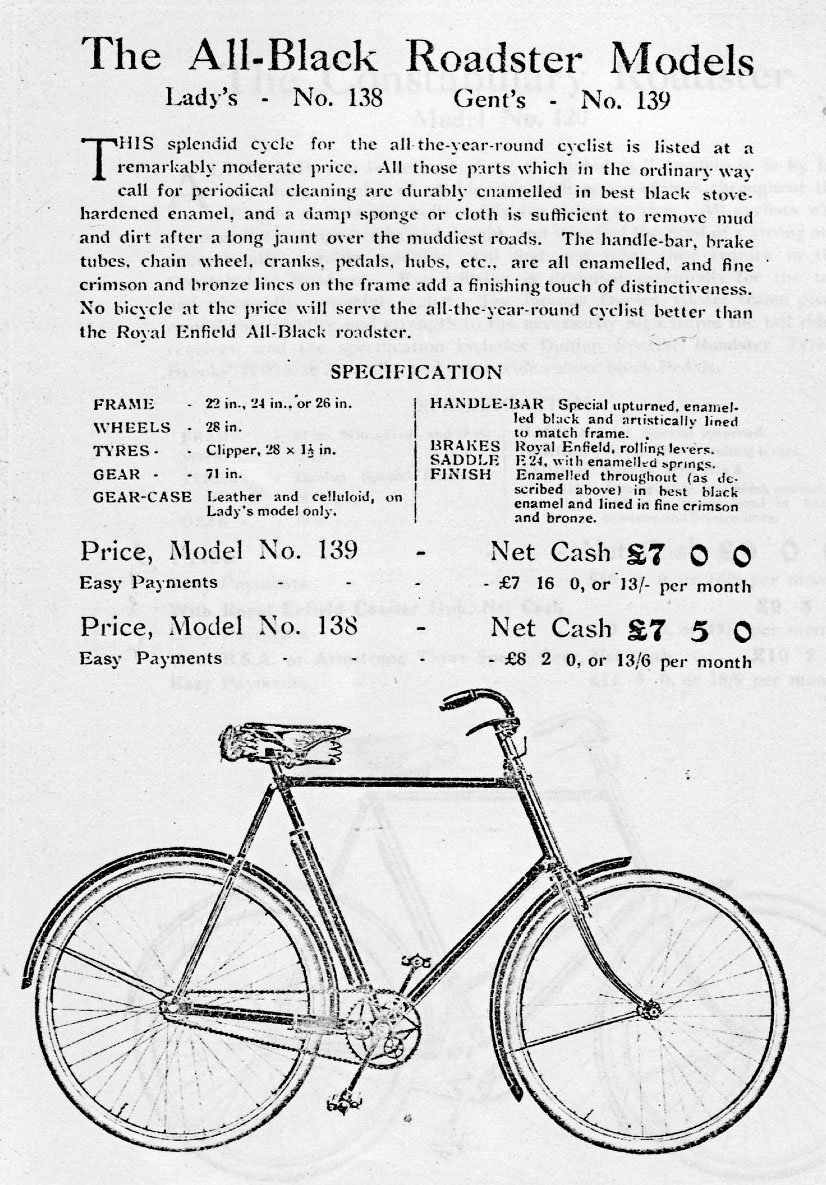 1913 royal enfield all black roadster