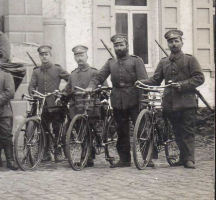 german ww1 bike front carrier