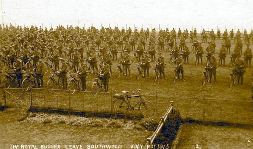 ROYAL SUSSEX WW1 CYCLIST BATTALION