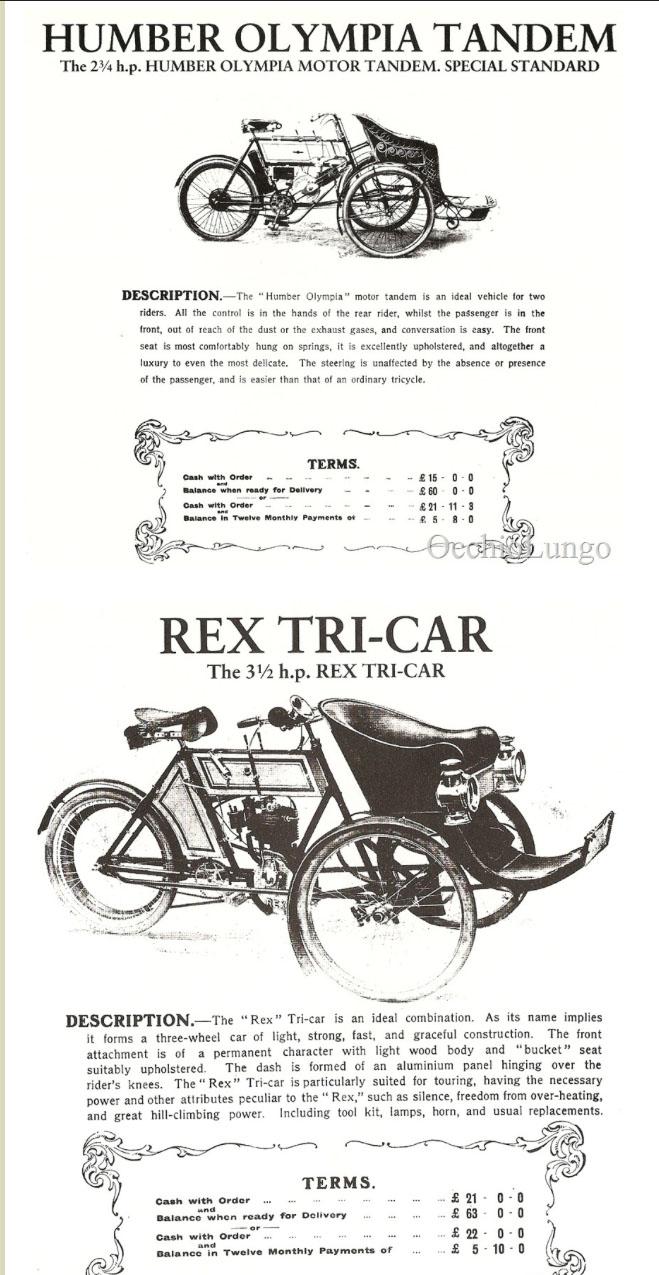 rex tricar humber tandem