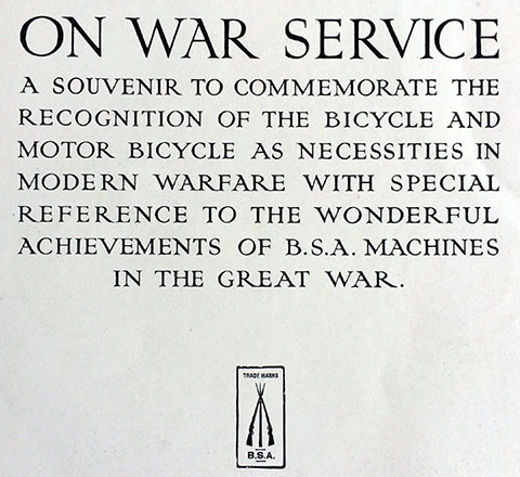 BSA On War Service