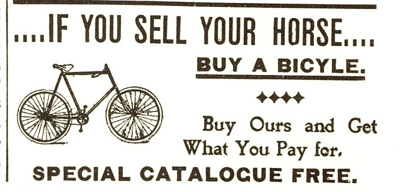 1897 sears catalogue Bicycle Ad
