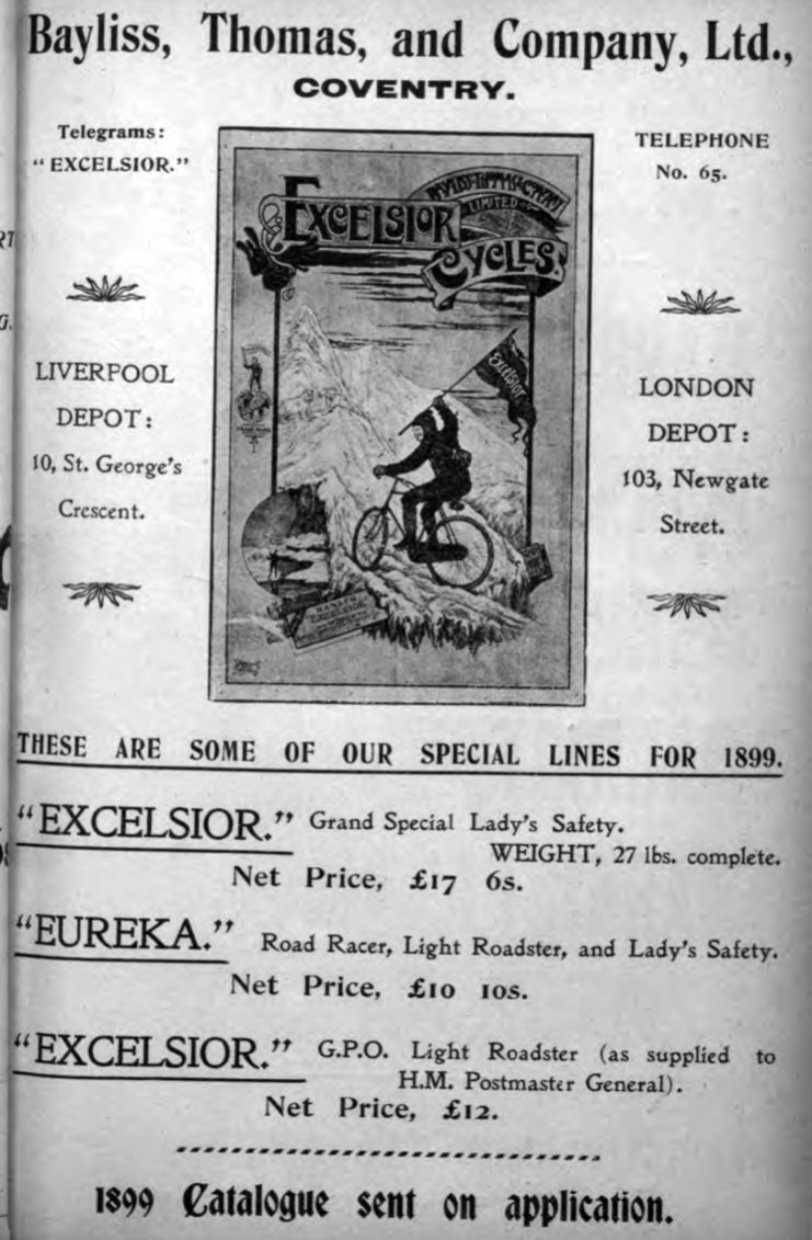 1899 excelsior ad