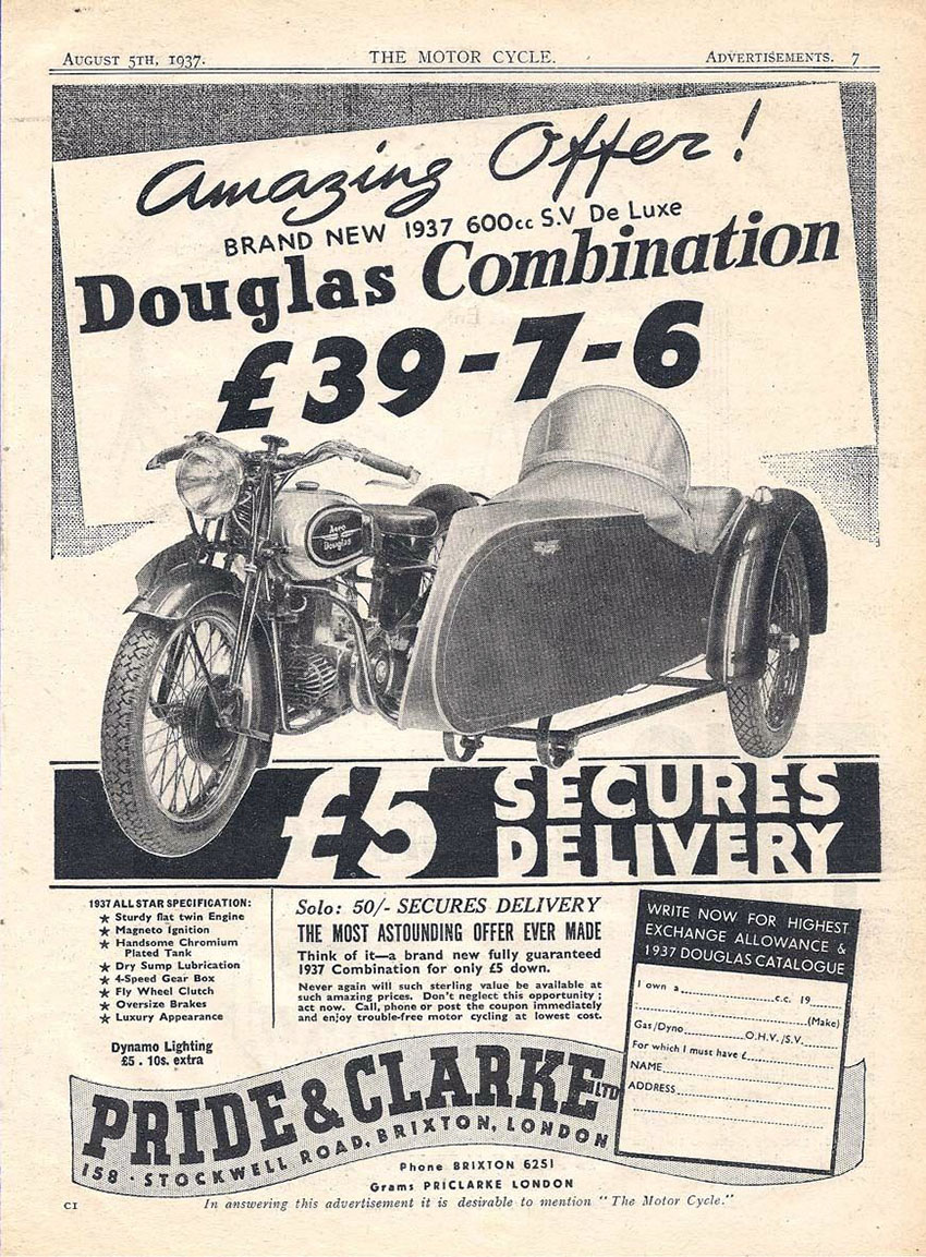 pride and clark douglas combination 1937