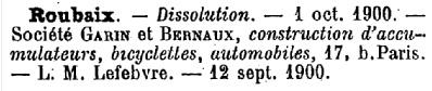 1900 dissolution Garin