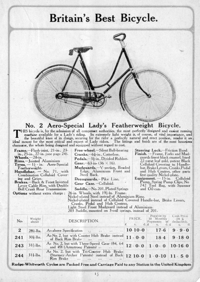 1908 Rudge Whitworth 100