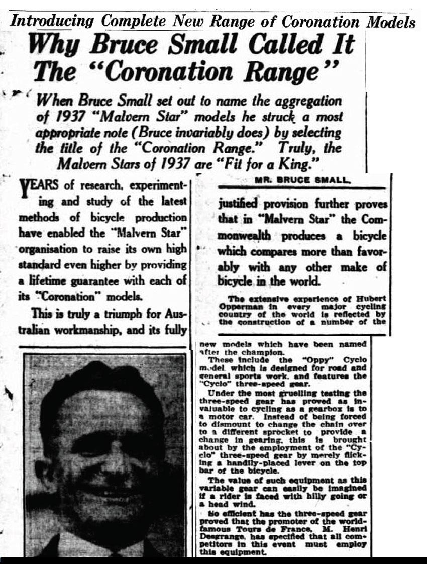 1937 MALVERN STAR CORONATION