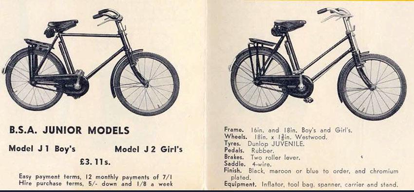 1938 BSA JUNIOR catalogue