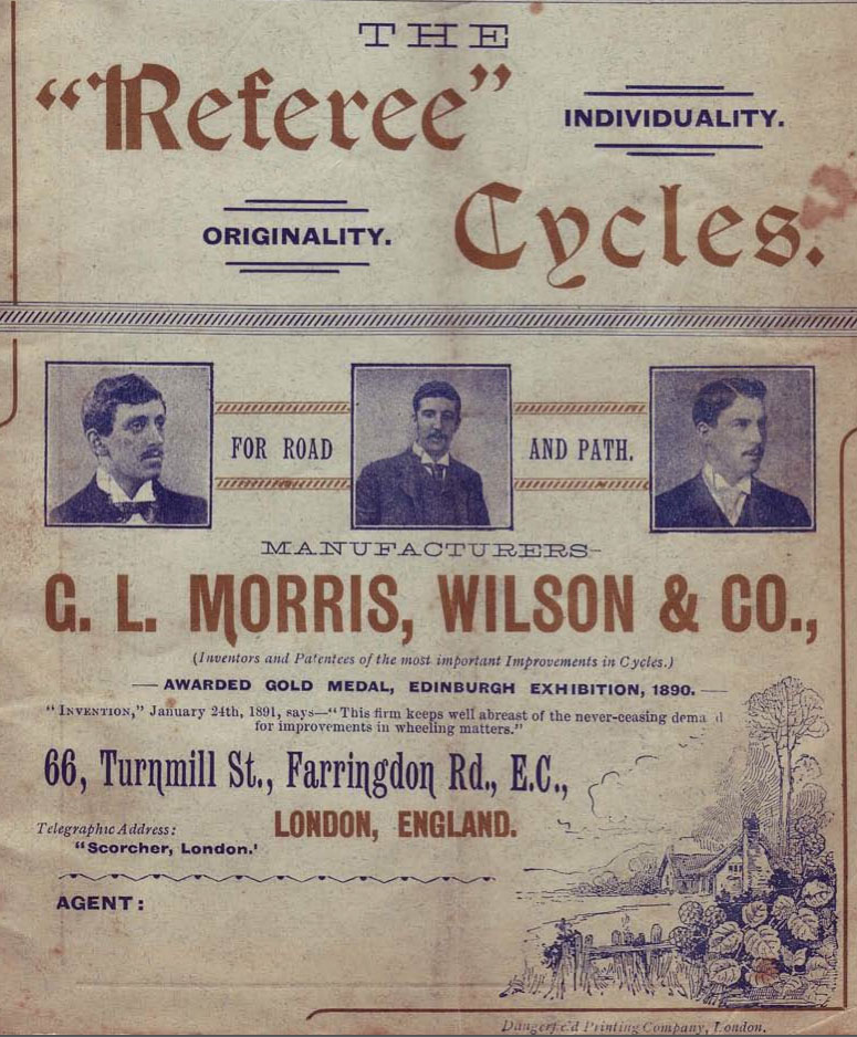 1891 referee catalogue cover