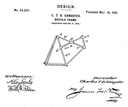 X-1901_Charles_Sangster_Cross_Frame_Patent_1