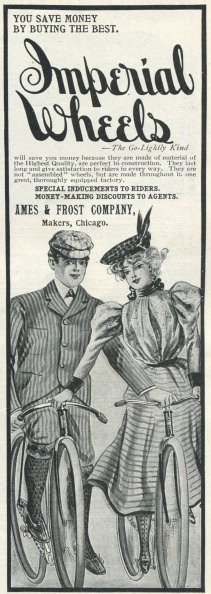 Ad For Imperial Bicycle Wheels
