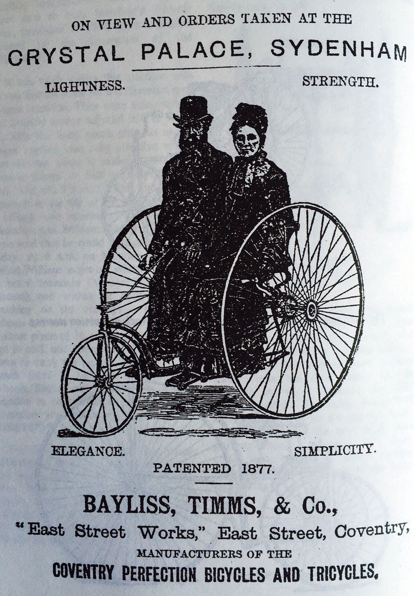1877 bayliss timms tricycle
