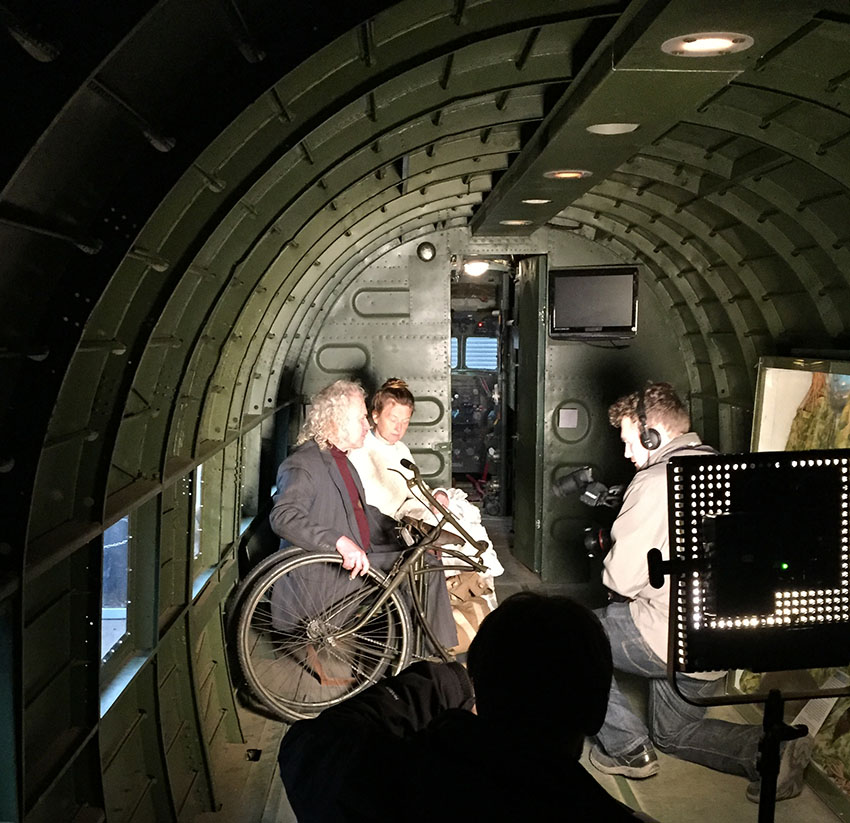 BBC FILMING BSA AIRBORNE
