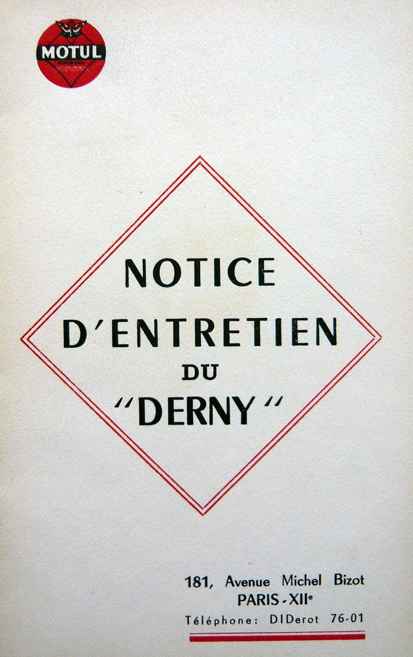 DERNY INSTRUCTIONS BOOK