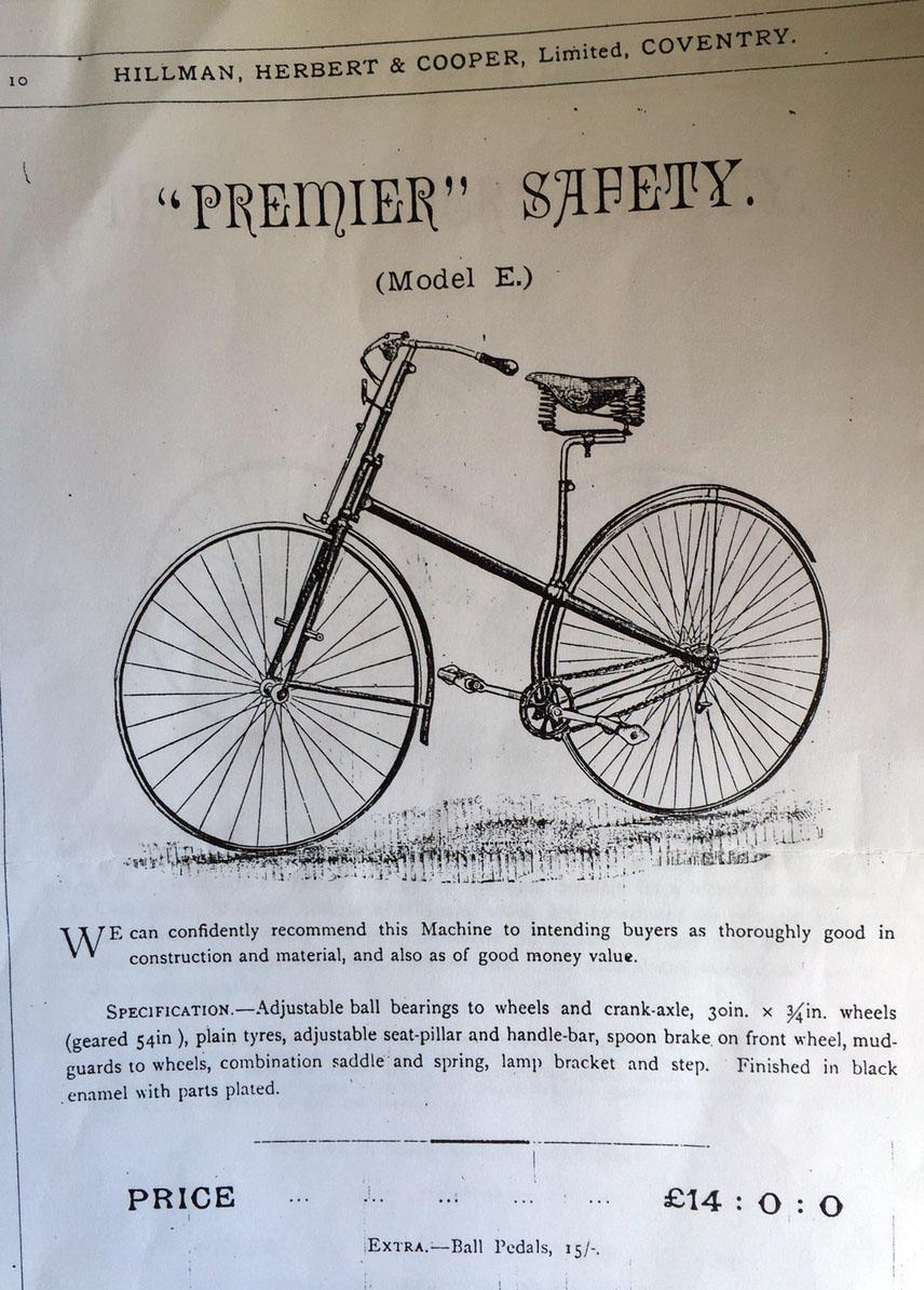 1887 Premier cross frame model E