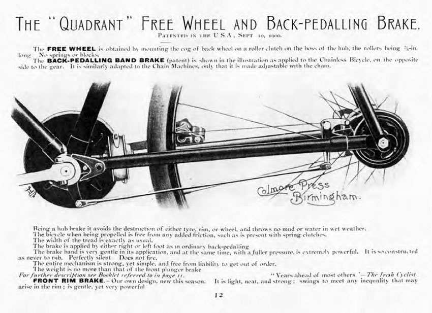 1898 Quadrant Chainless Light Roadster 5