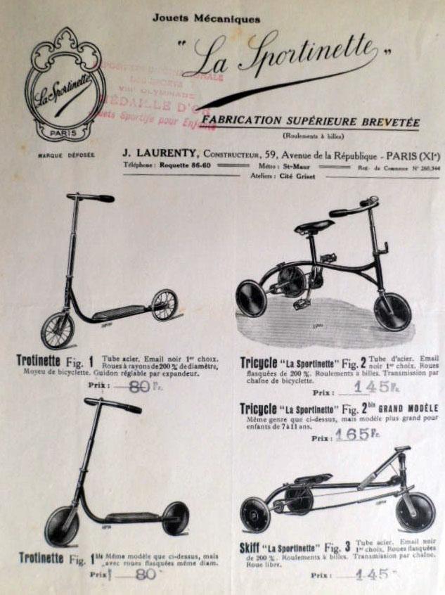 Tricycle La Sportinette Laurenty Paris