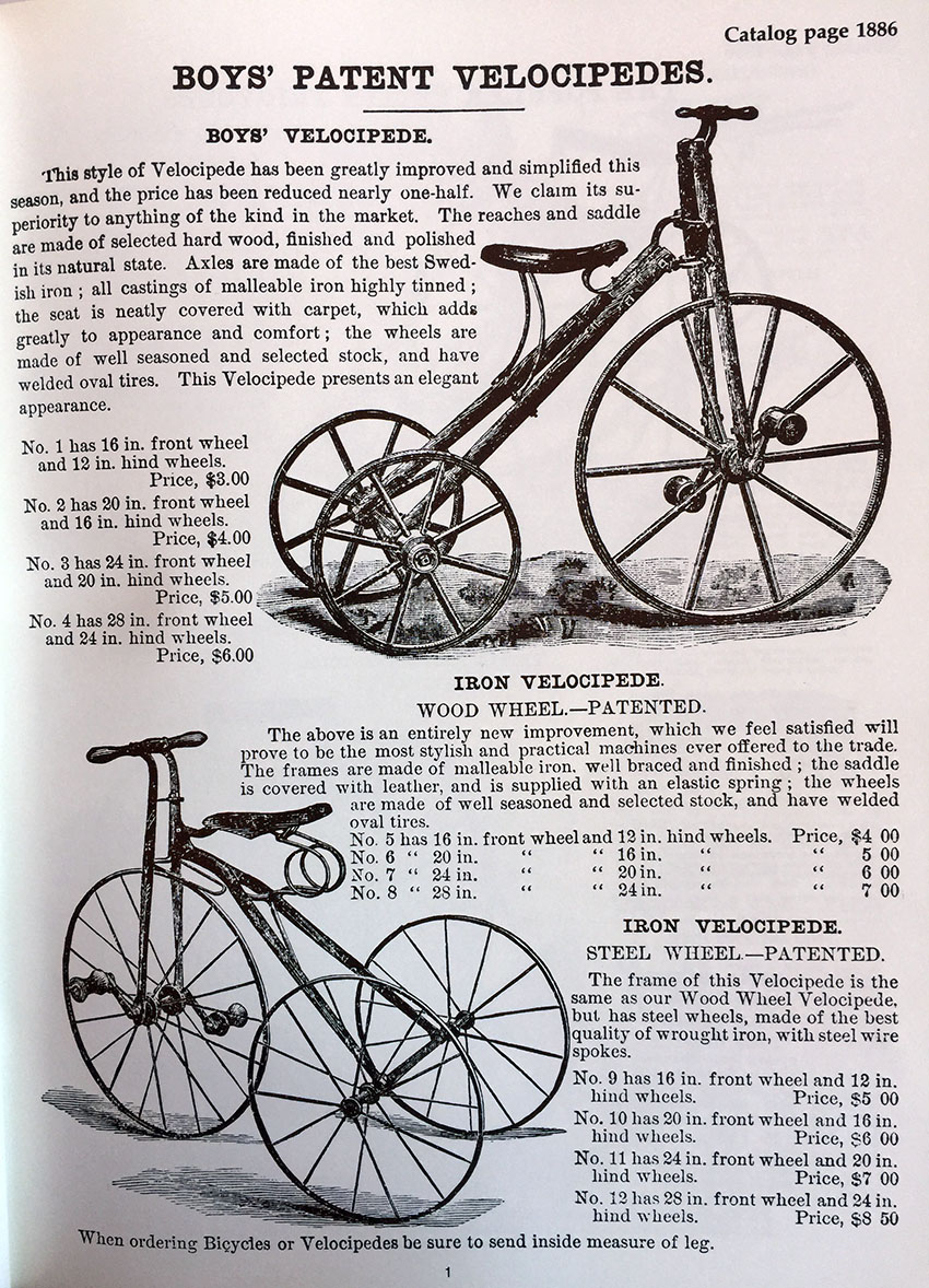 1870 Childs' Velocipede 9