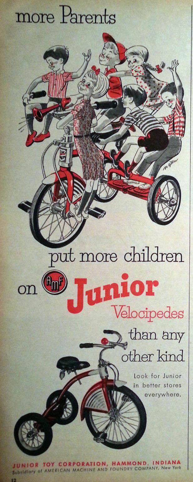 1952 junior tricycles