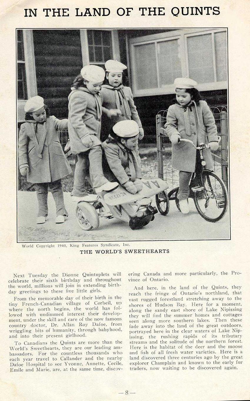 DIONNE QUINTS 1940 TRIBIKE