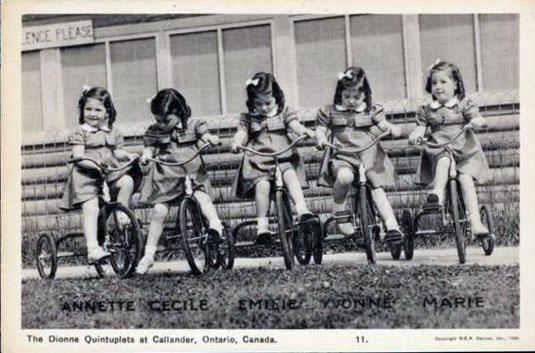 dionne quints tricycles