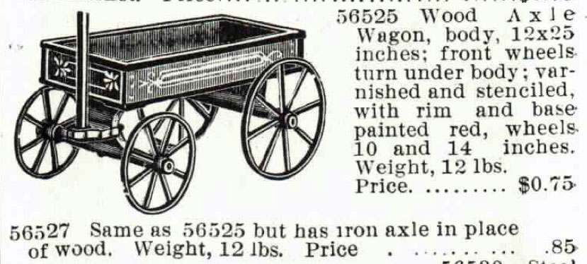 1895 Montgomery Ward catalogue boys wagons 3