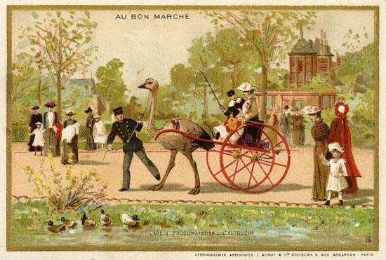 1897 Velo Dame au Bon Marche, Paris 1