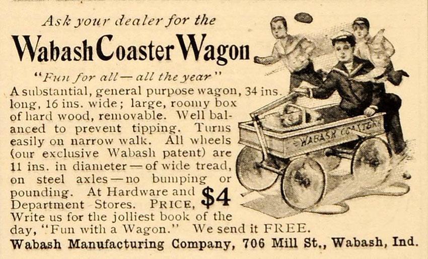 1906 wabash coaster wagon